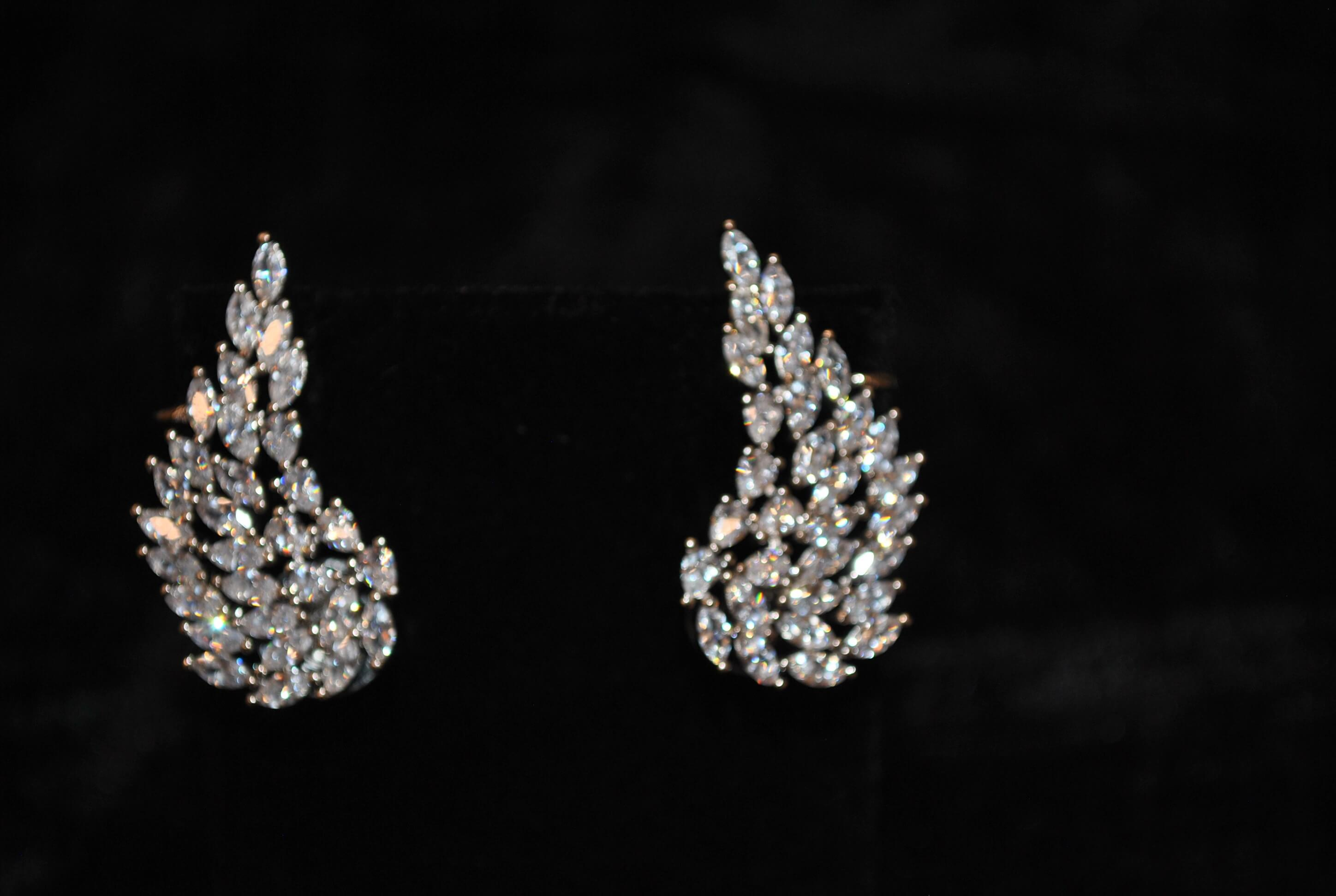 Zirconia Ear Cuff Earrings