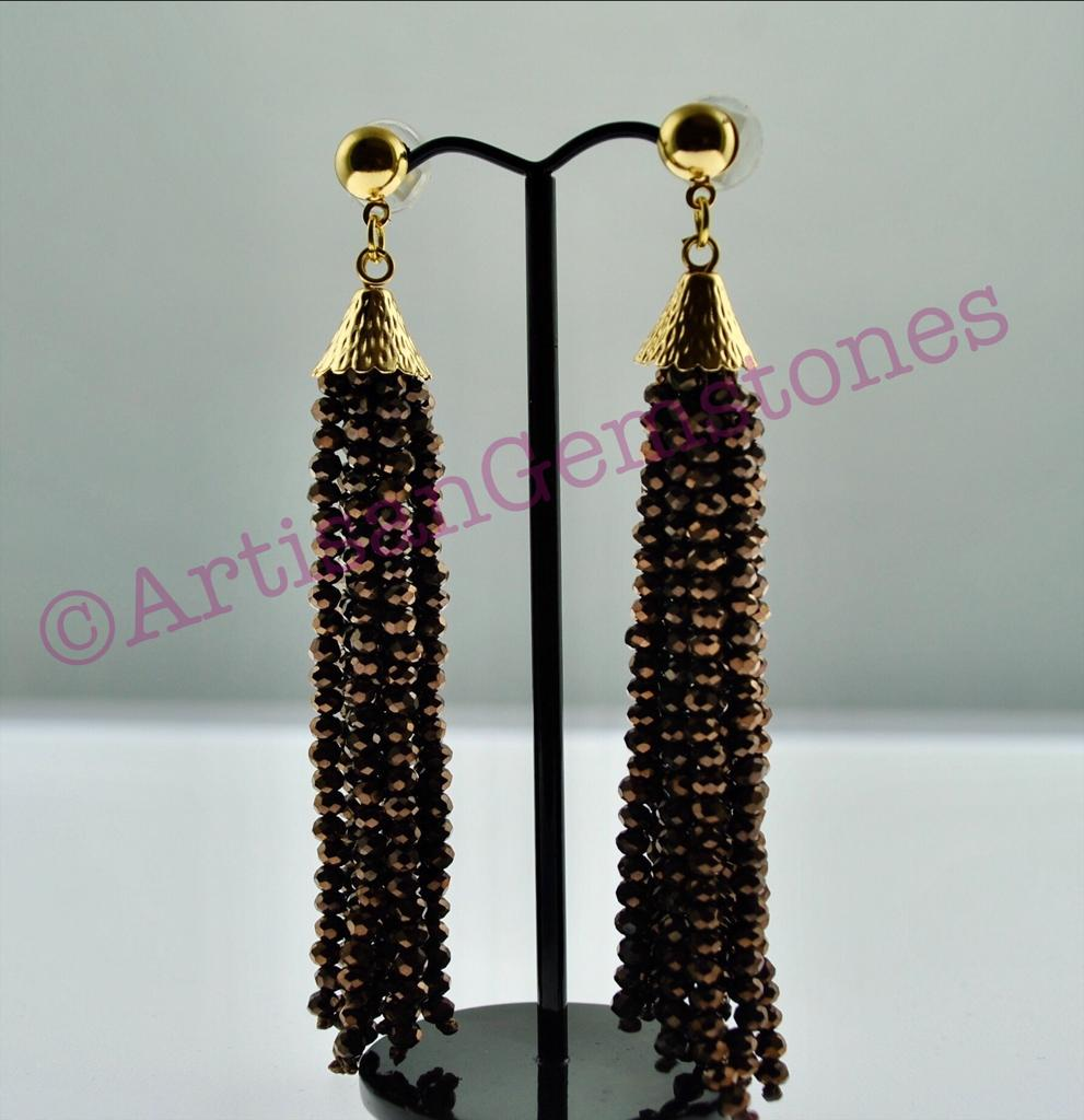 Chocolate Brown dangler Earrings