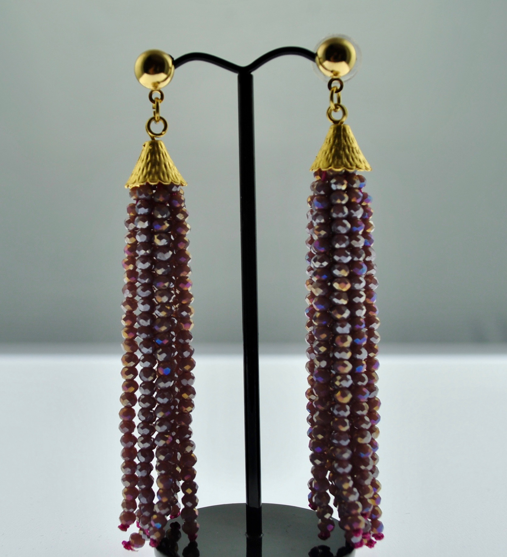Mauve Dangler Earrings