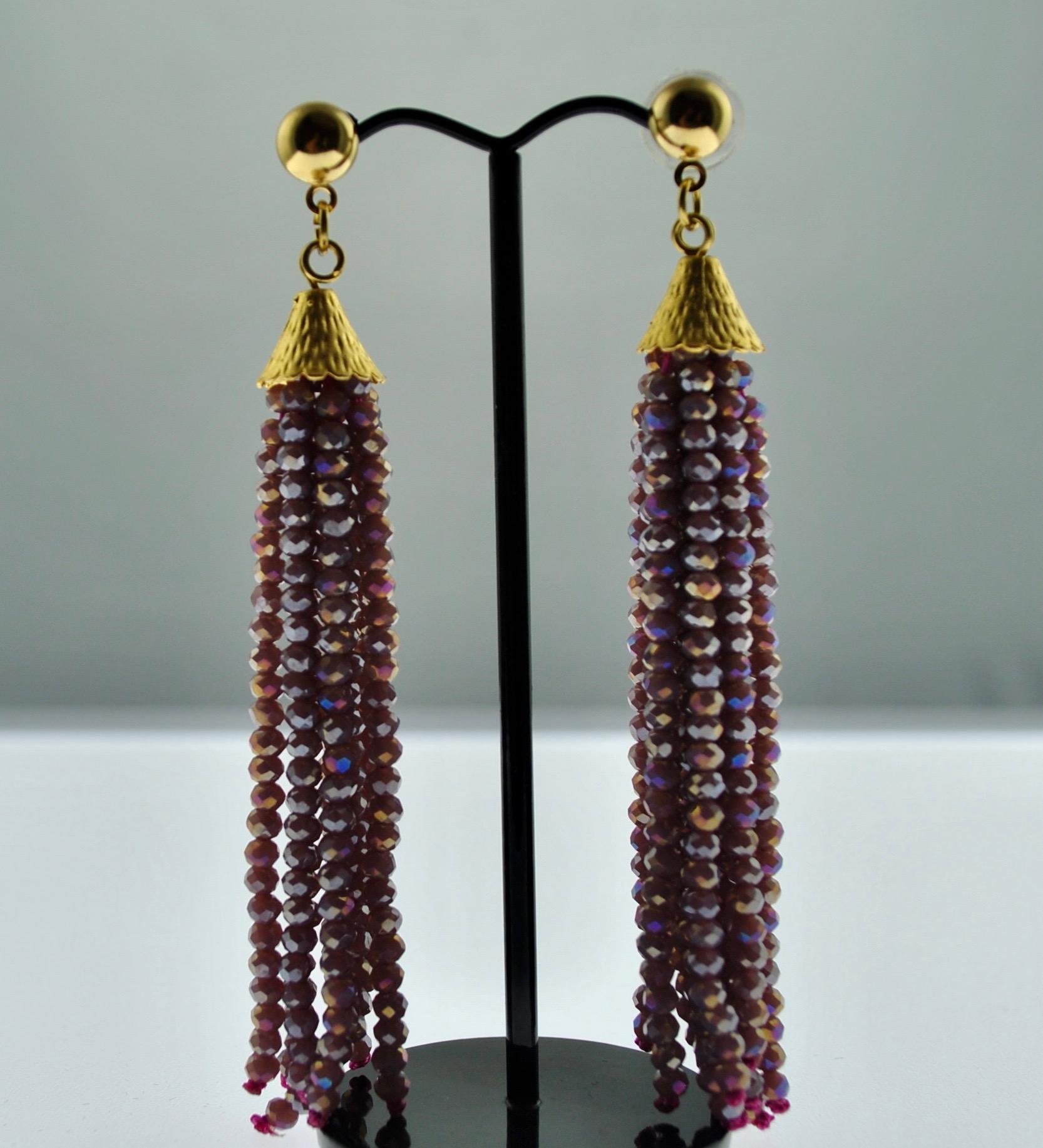 Mauve Dangler Earrings