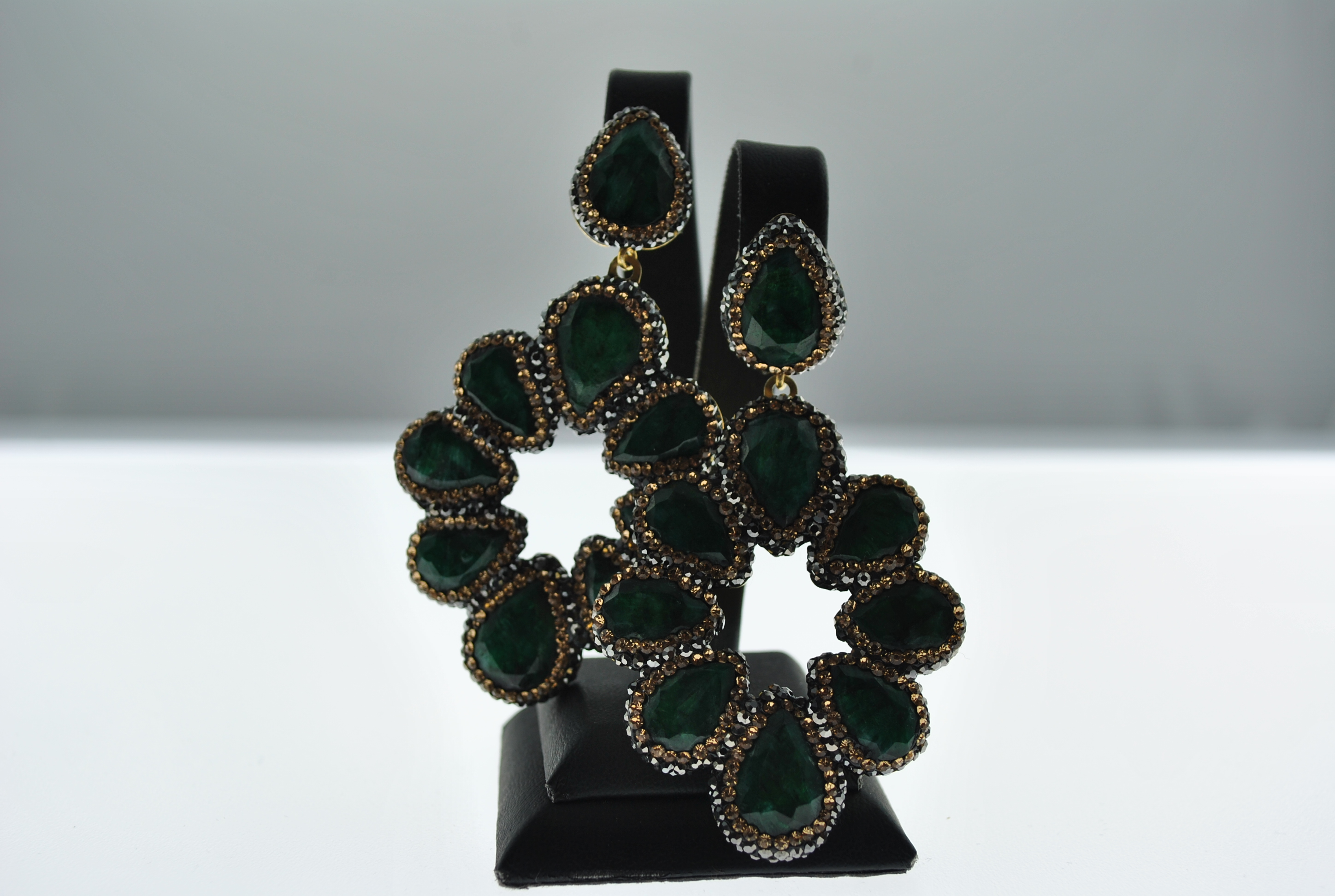 Green and Gold Earrings (out of stock) can be ordered please contact