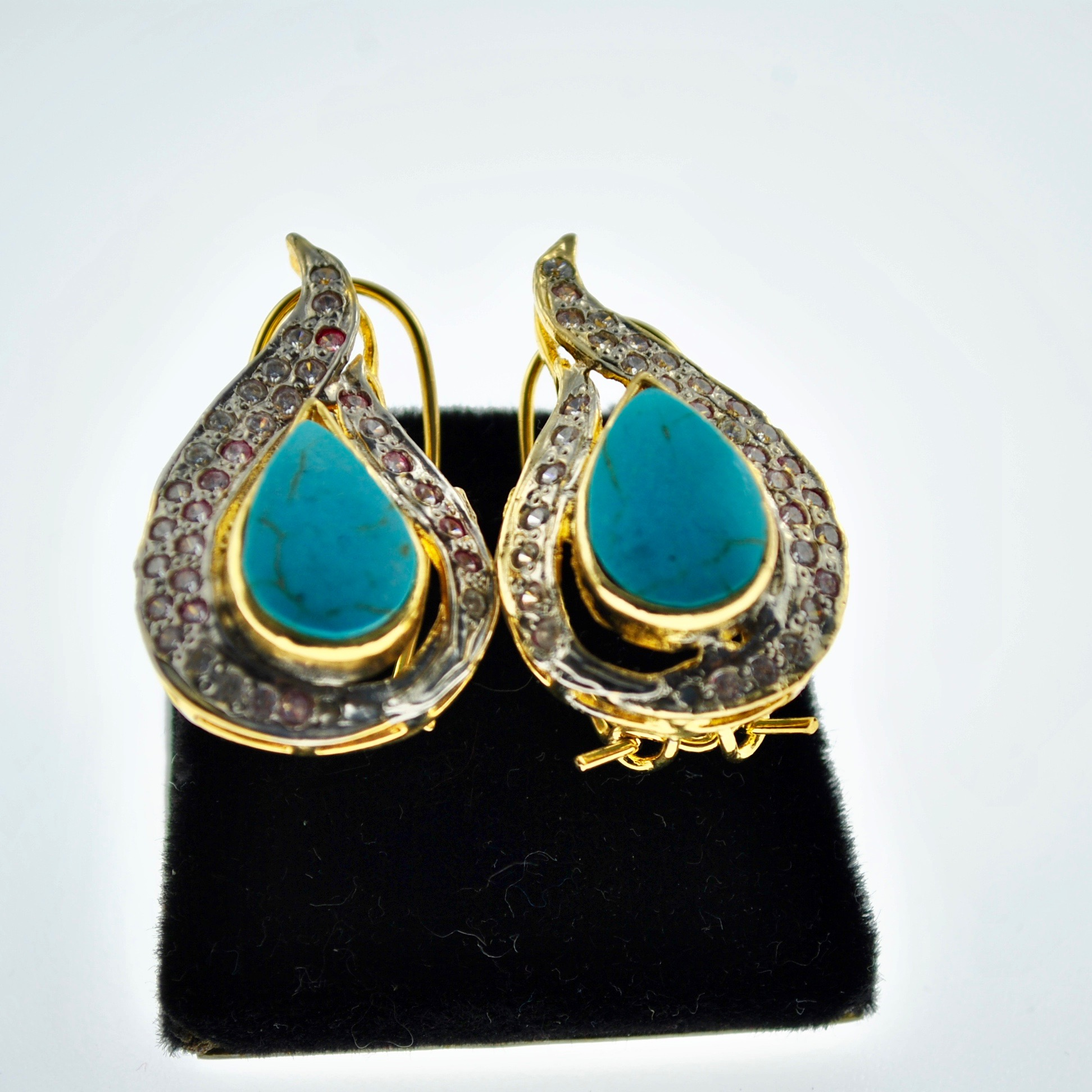 Feroza Paisley Earrings