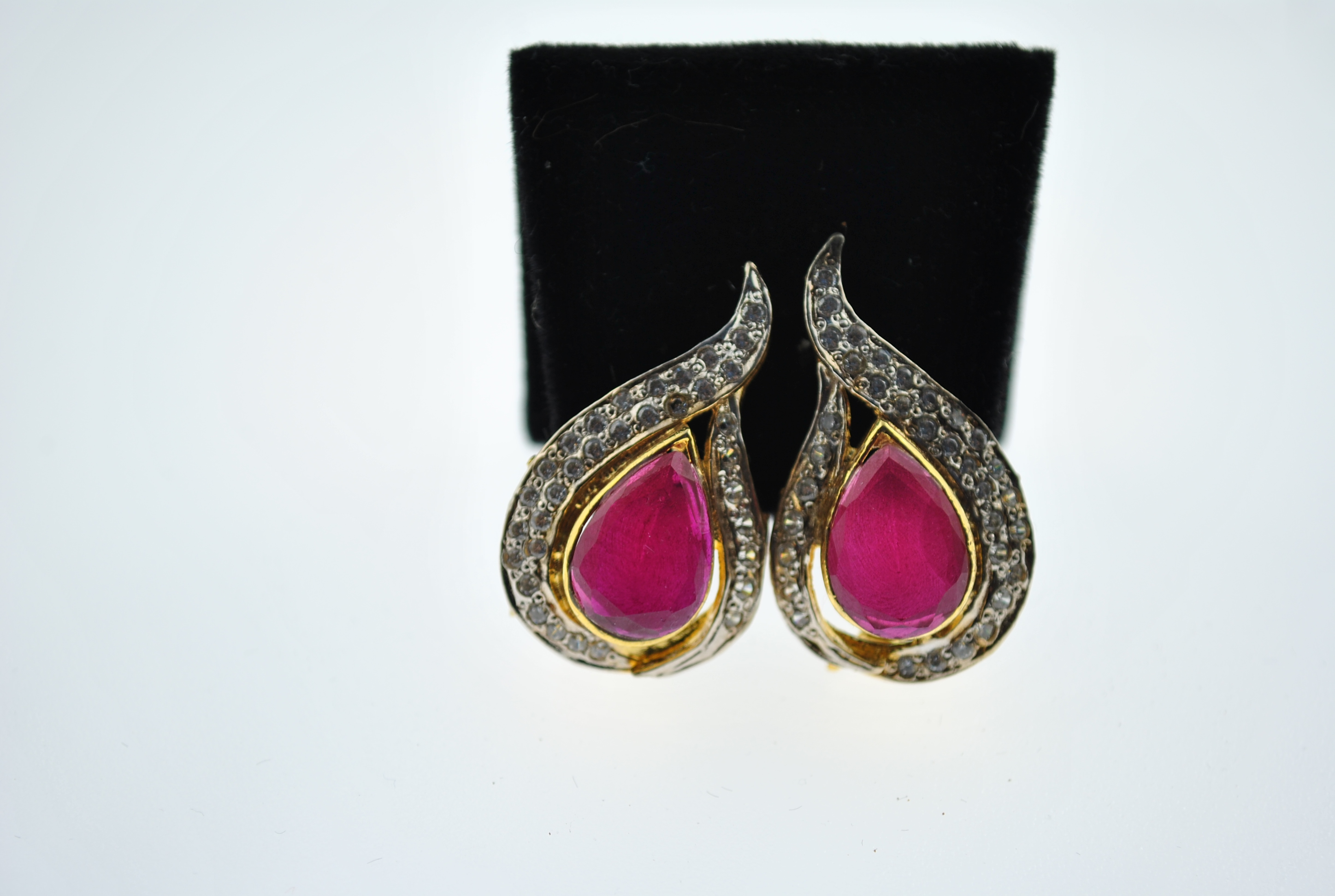 Red Paisley Earrings