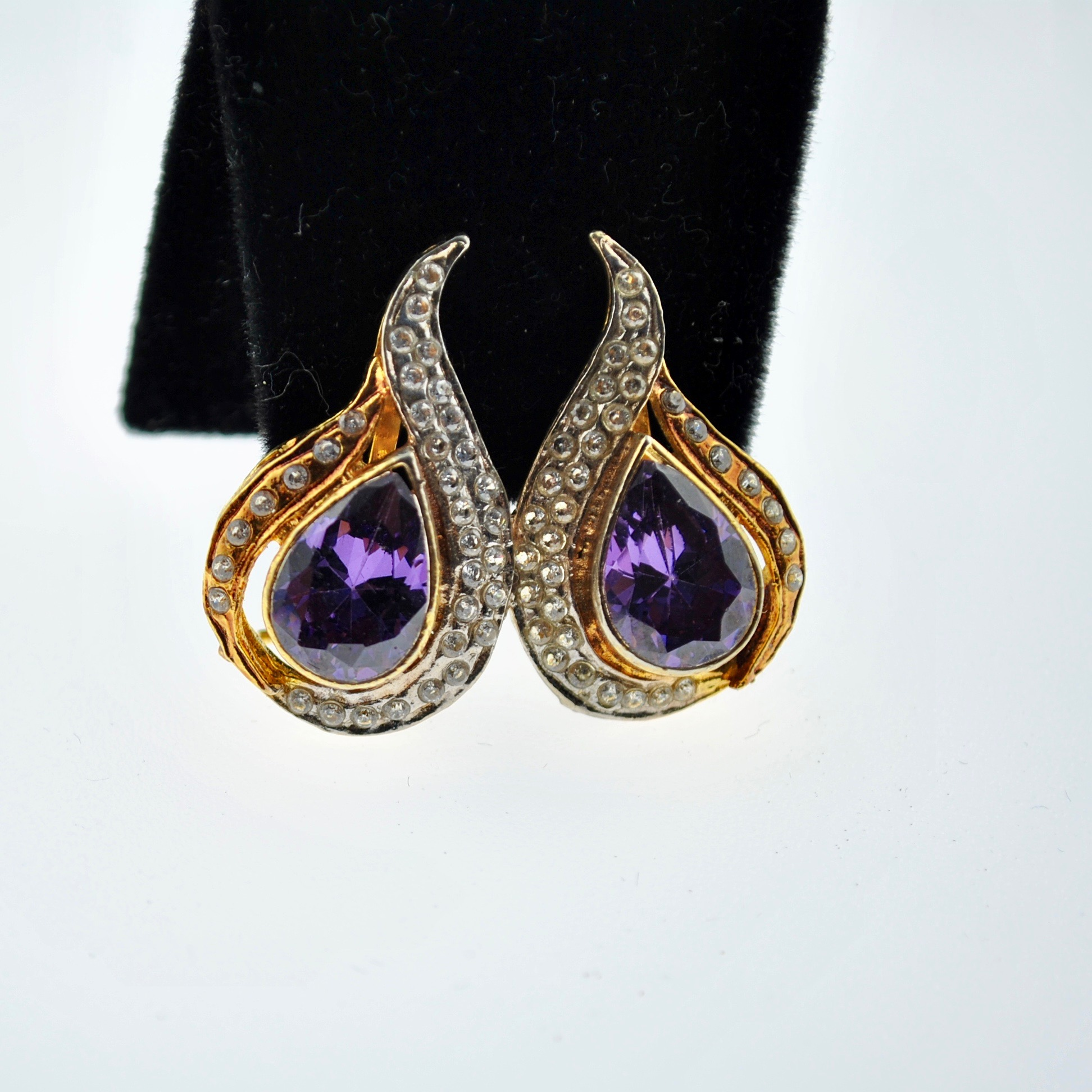 Purple Paisley Earrings
