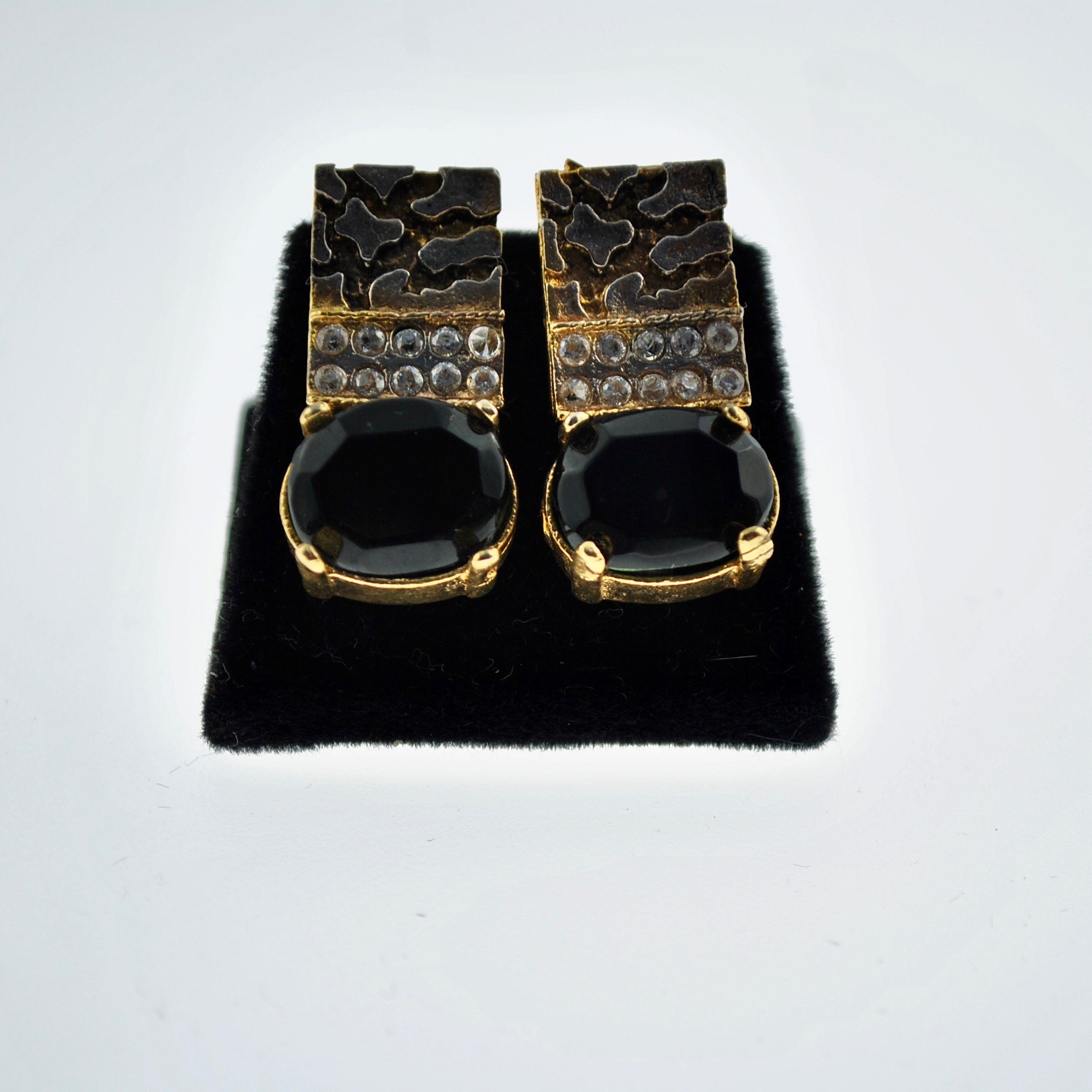 Black, Silver and Gold Earrings