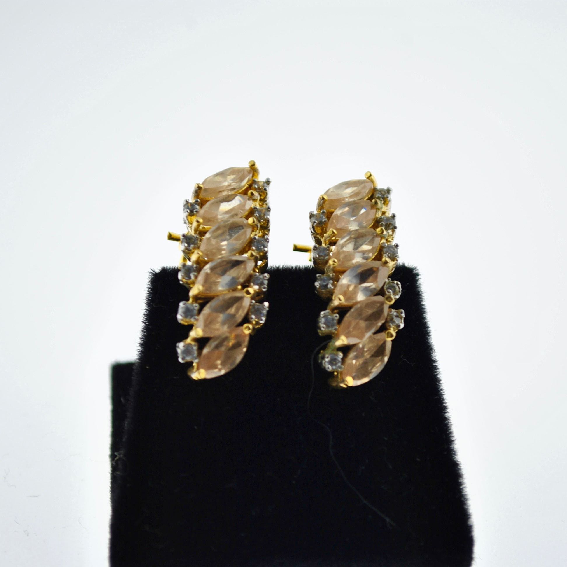 Topaz and Zirconia Marquee Earrings