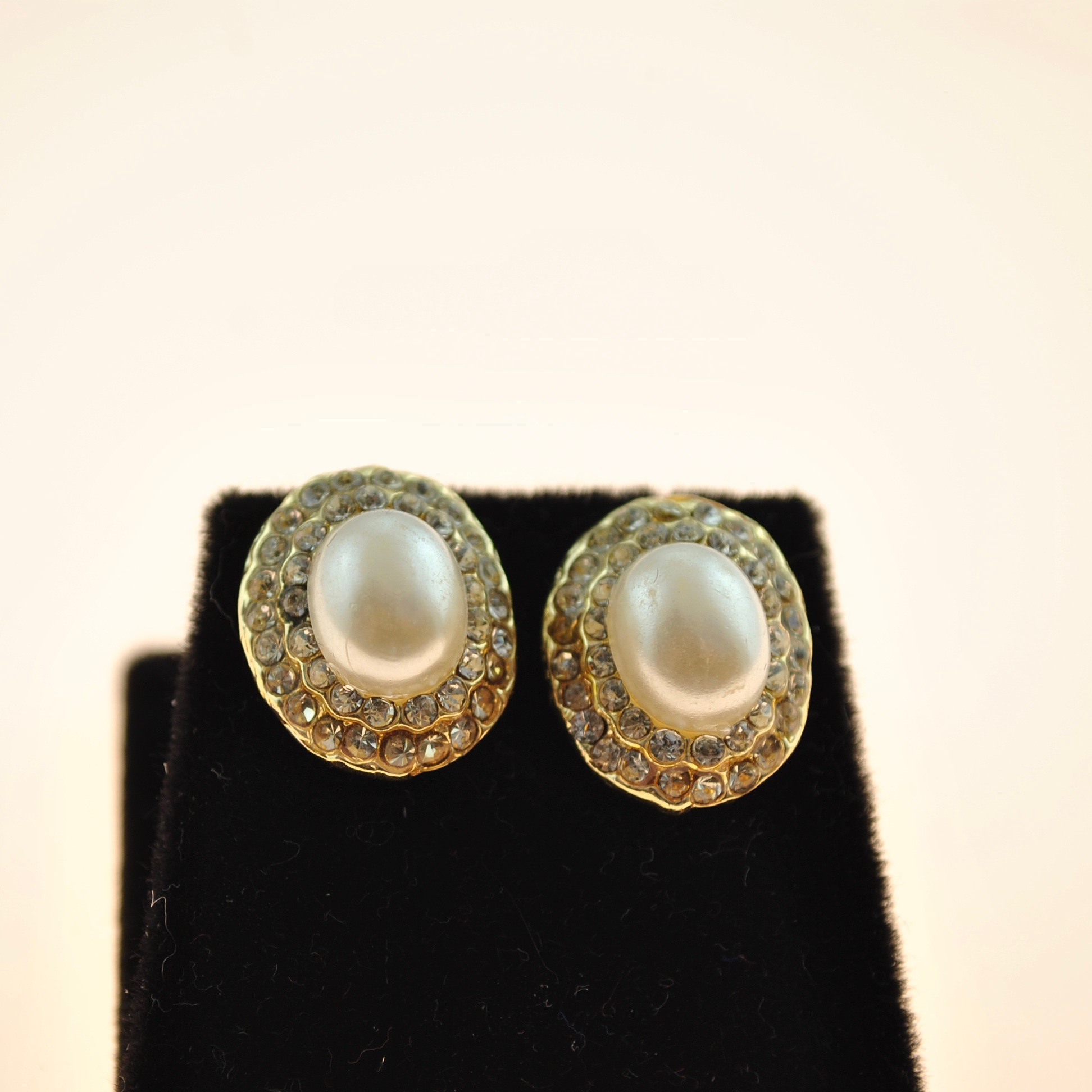 Pearl and Zircon Earrings