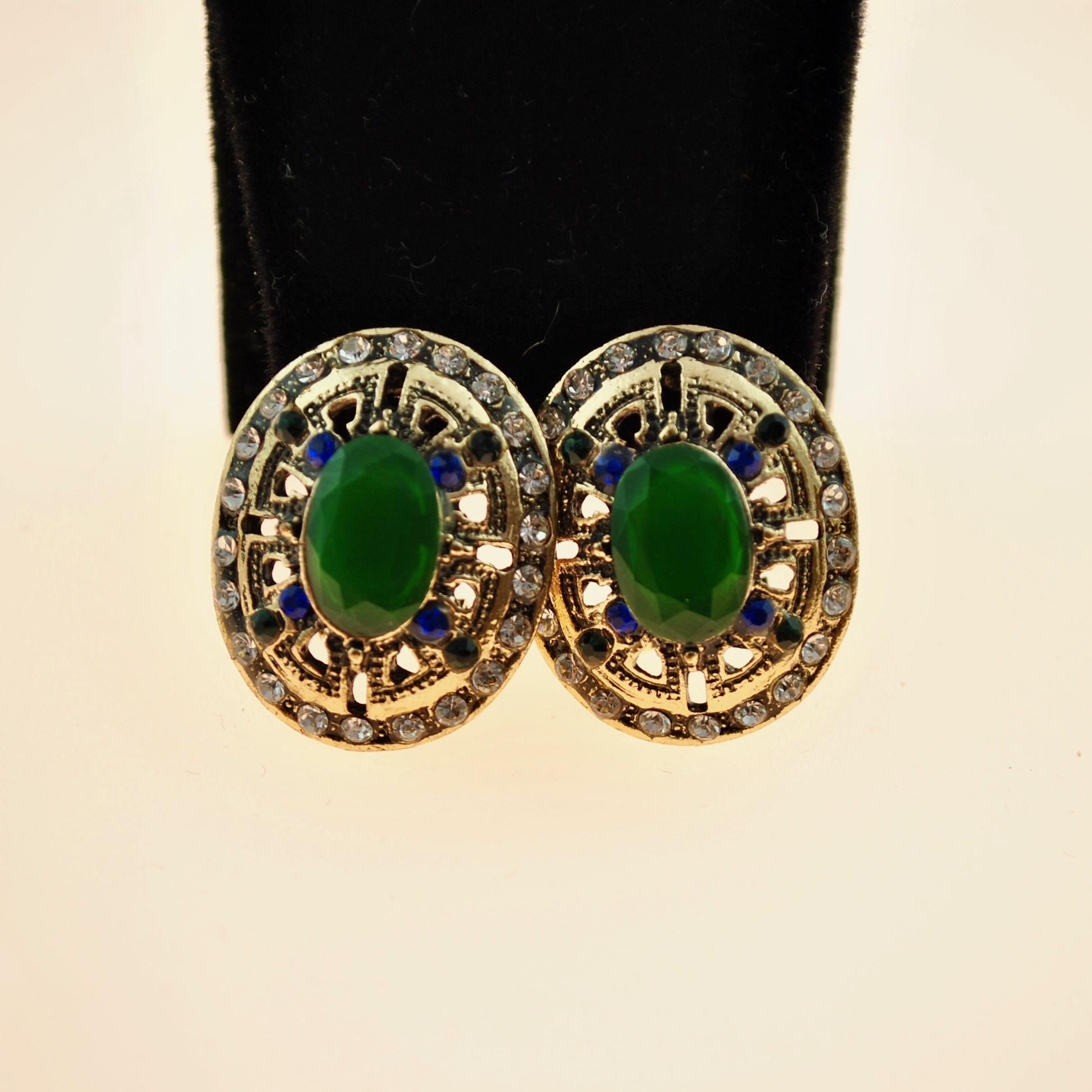Green Ottoman style Earrings