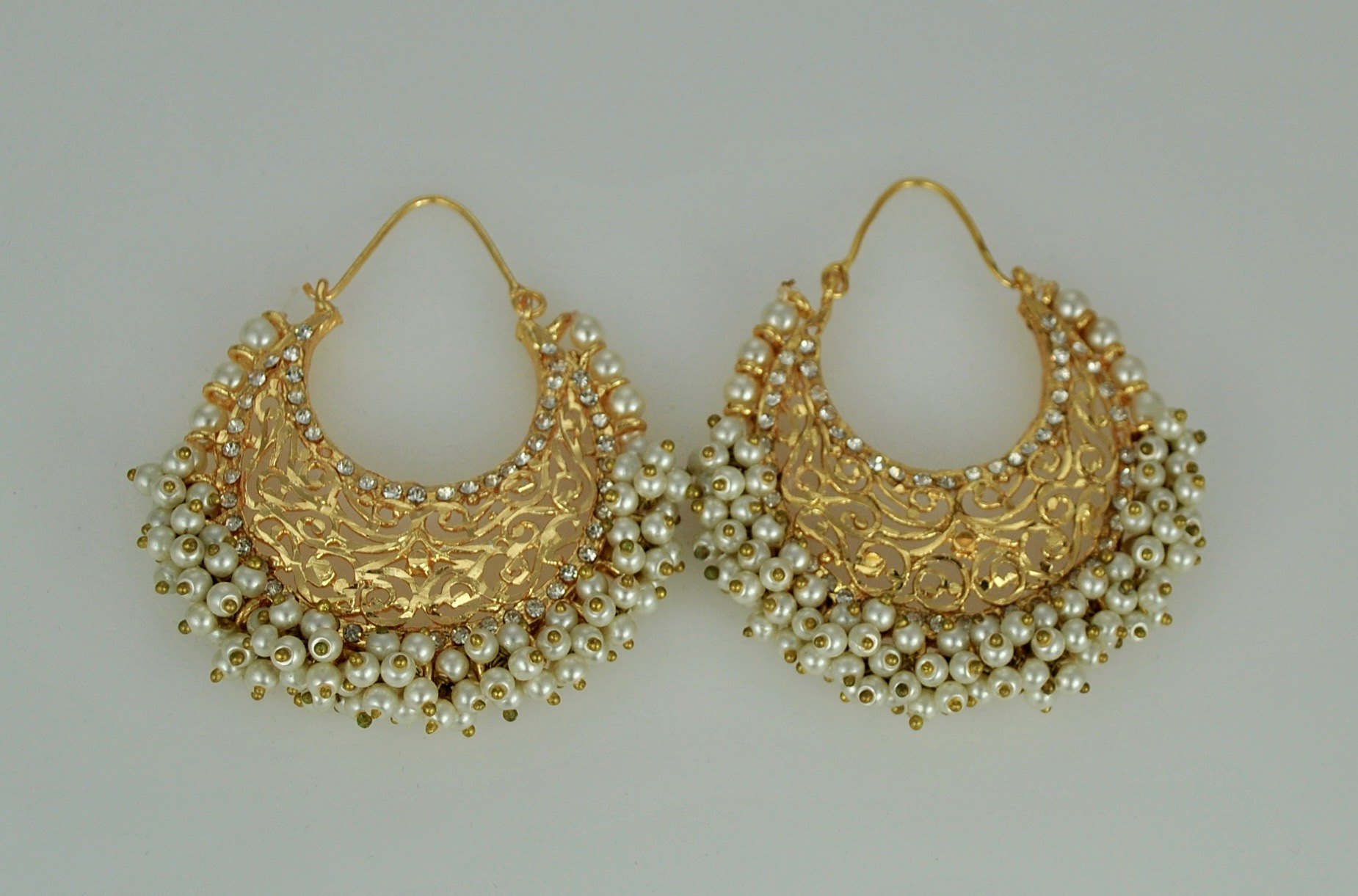 22k Gold Vermeil Pearl and gold earrings