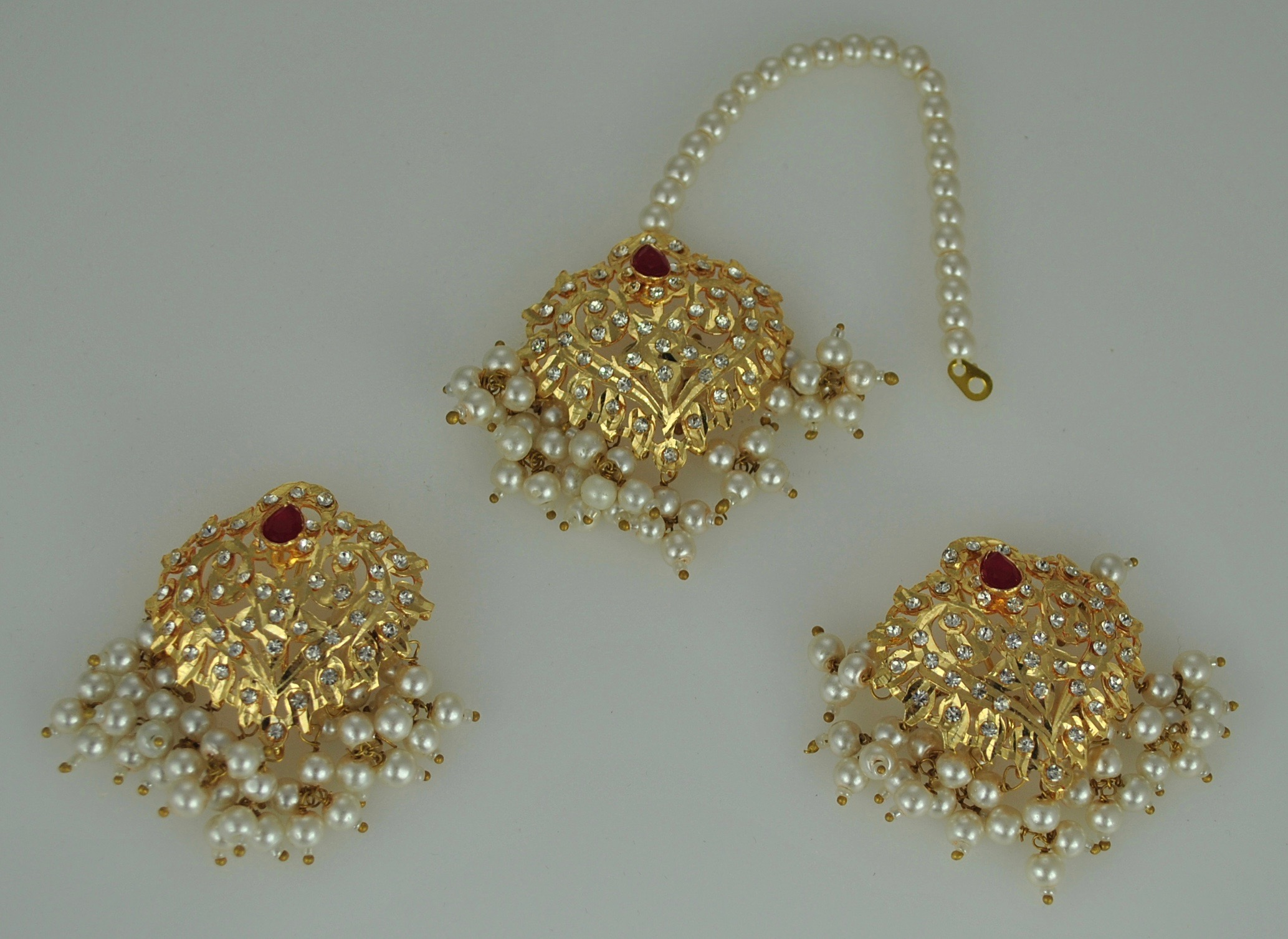 22k Gold vermeil Earrings and tikka set
