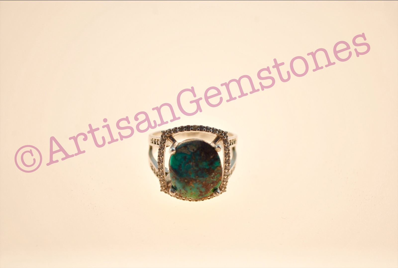 Iranian Turquoise/Feroza ring in 925 silver size 17 or Q