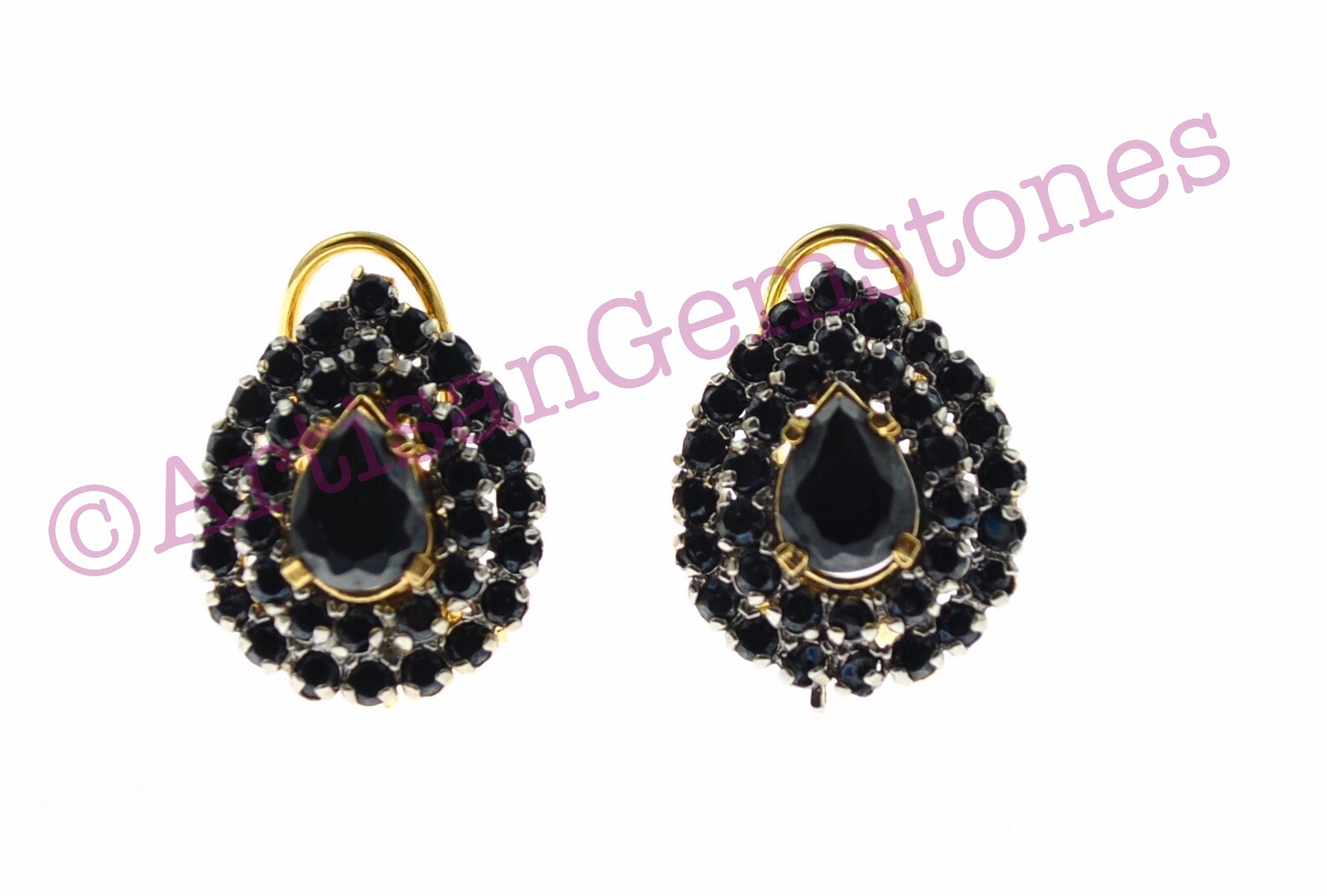 Black small sized Earrings