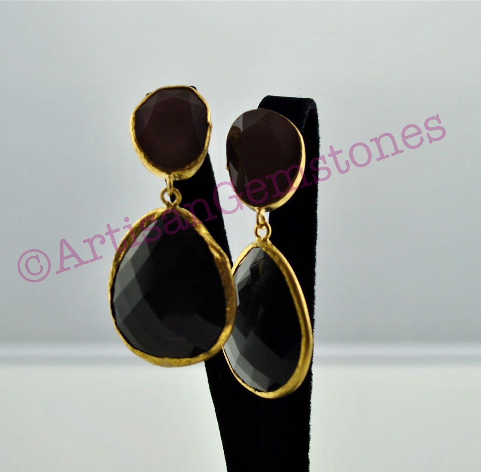 Dark Brown Earrings