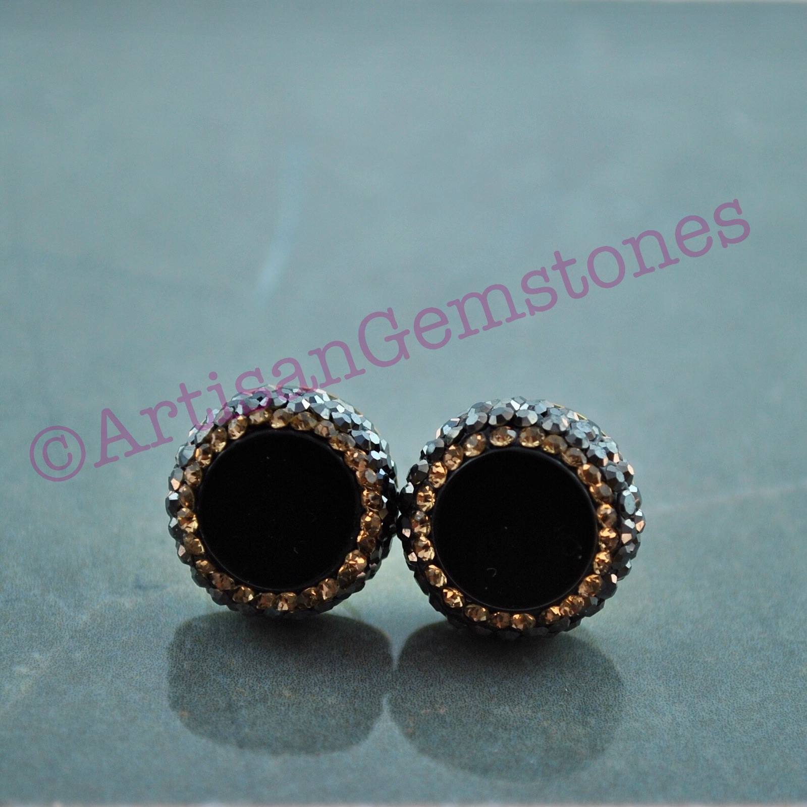 Black and Gold studs
