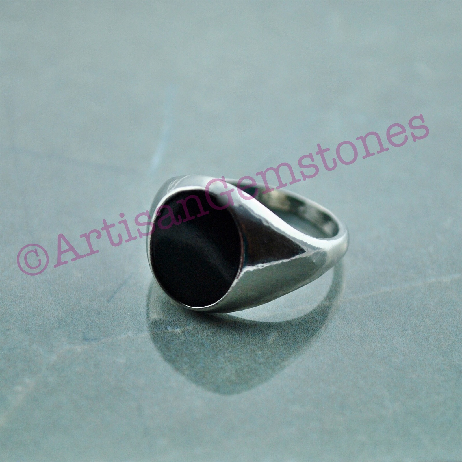 Black Stone ring size 20 or S