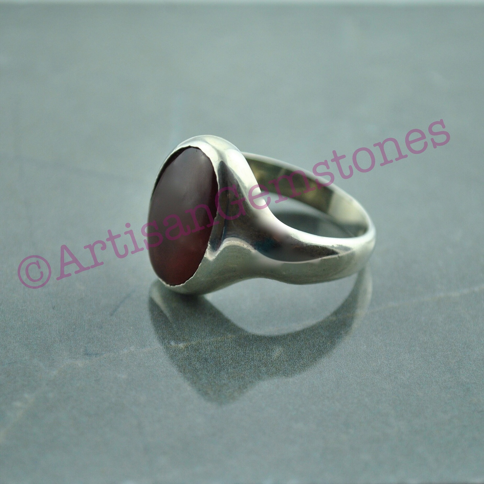 925 Silver Aqeeq/Agate ring size 20 or S