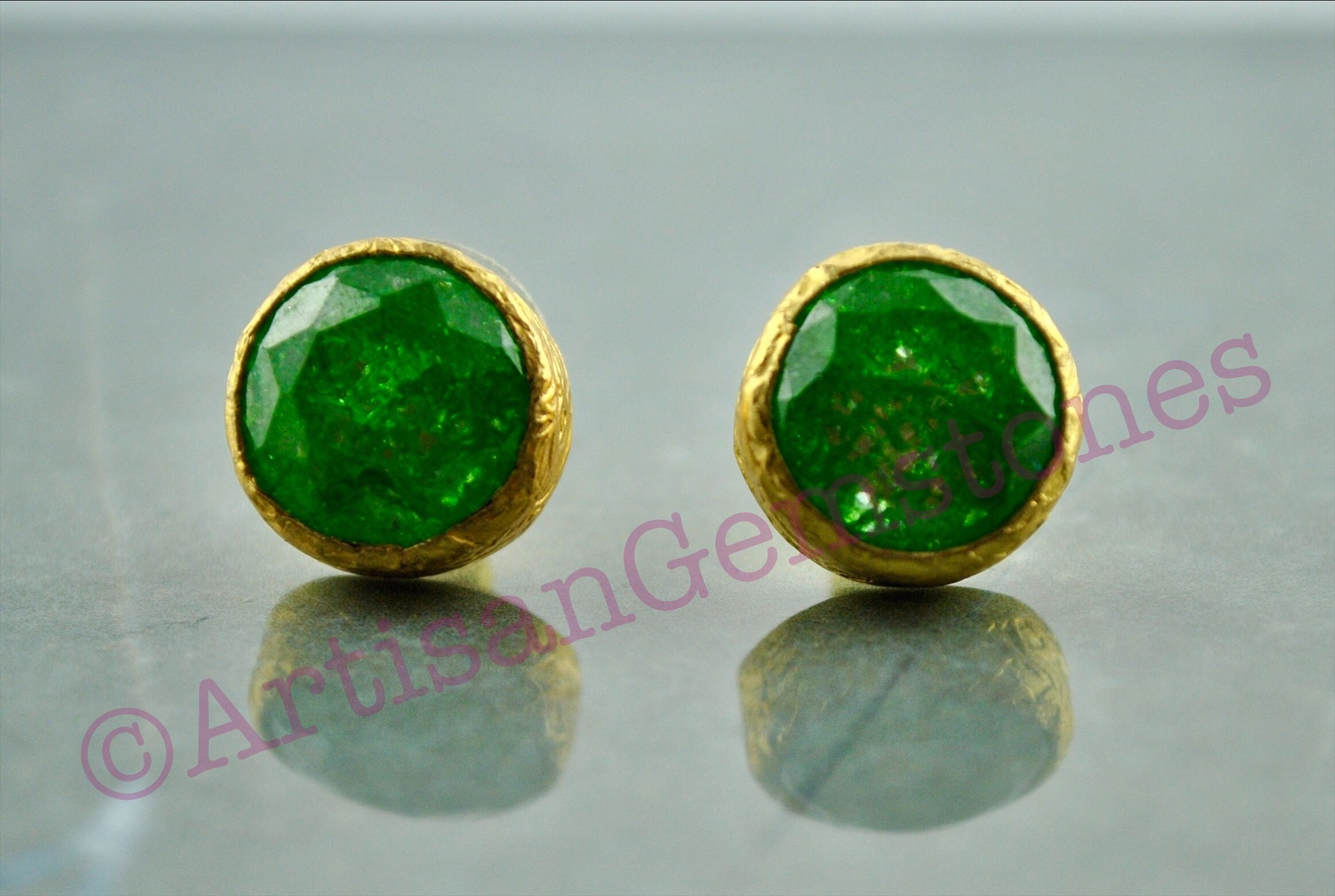 Green and Gold Studs (out of stock)
